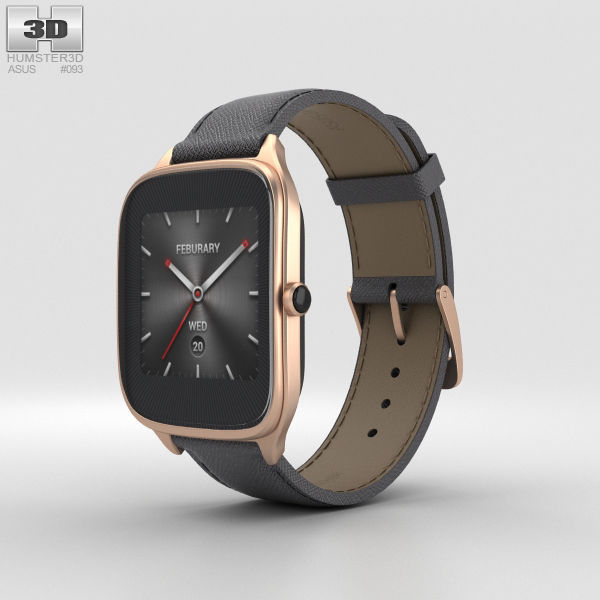 Asus Zenwatch 2 1-63-inch Rose Gold Case Taupe Leather Band