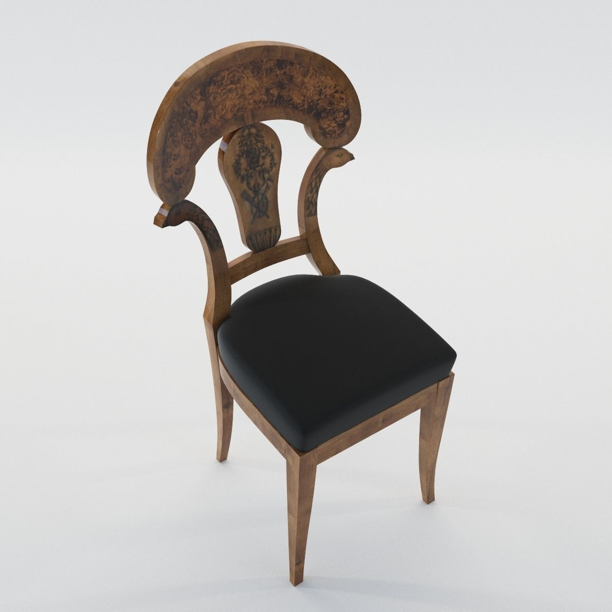 ... Biedermeier Chair   Austria Vienna 1820   Georg Britsch 3d Model Max  Obj Mtl Fbx Pdf ...