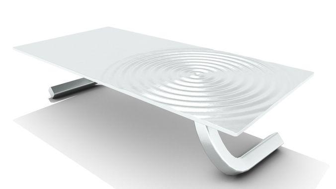chrome ripple table top coffee table 3d model obj mtl fbx ma mb 1