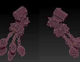 FLAIL OF SKULLS CONTEMPNOR CUSTOM WEAPON 3D print model