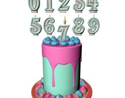 Birthday Cake 3D asset