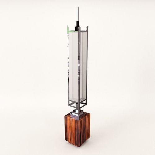 stand lamp - art deco style 3d model max obj mtl fbx pdf 1