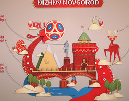 World Cup 2018 Russia host city NOVGOROD 3D asset