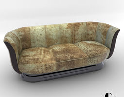Sofa - Art Deco style - Design from Cygal Art Deco 3D