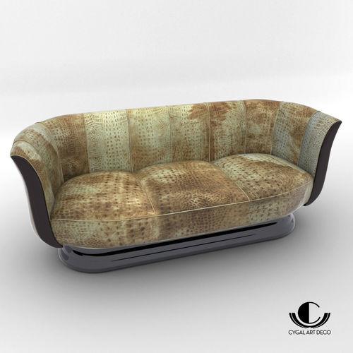 Sofa Art Deco Style Design From Cygal Model Max Obj Mtl