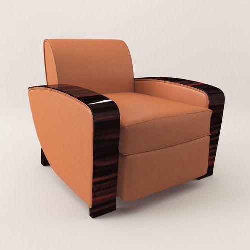 Armchair   Art Deco 1920 3D Model