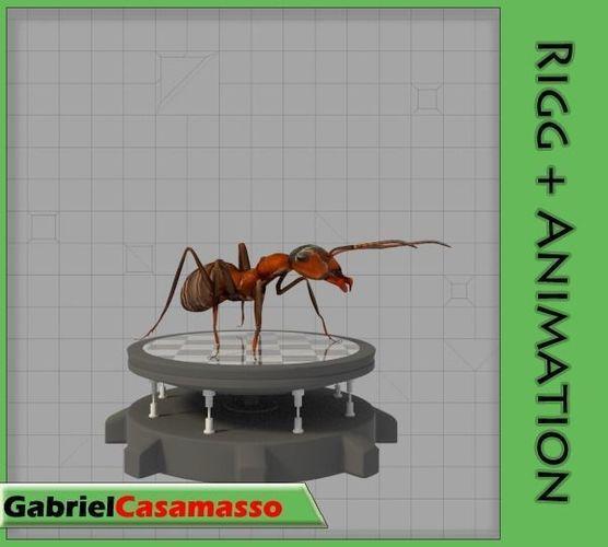 field ant 3d model obj mtl fbx blend 1