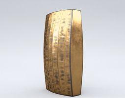 Carver Brass Narrow Vase 3D asset low-poly