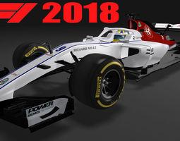 3D model Formula 1 Sauber AlfaRomeo 2018 F1 C37
