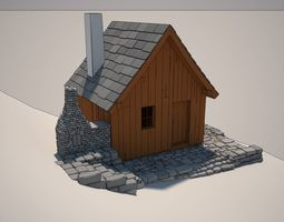 Cartoon Cottage 3D