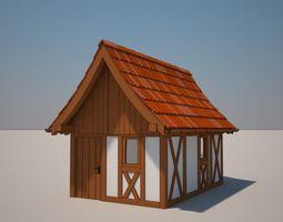 Cartoon Medieval House 04 3D model