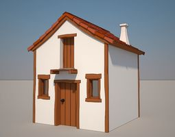 3D model Cartoon Medieval House 03