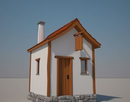 3D Cartoon Medieval House 01