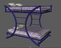 teens 3D model bunk bed
