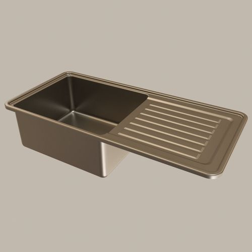 stainless steel kitchen sink 3d model max obj mtl 3ds fbx mat 1