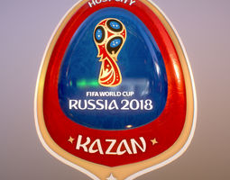 kazan Host City World Cup Russia 2018 Symbol 3D game