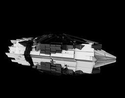 FUTURISTIC SPACESHIP 3D asset