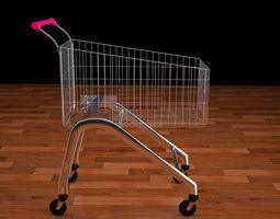 realtime rigged trolley 3ds fbx obj