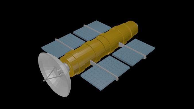 Low poly satellite 3