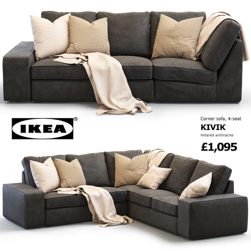 Attrayant Ikea KIVIK Corner Sofa 3D Model