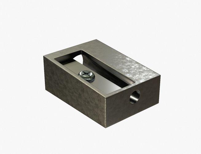 pencil sharpener 3d model obj mtl 1