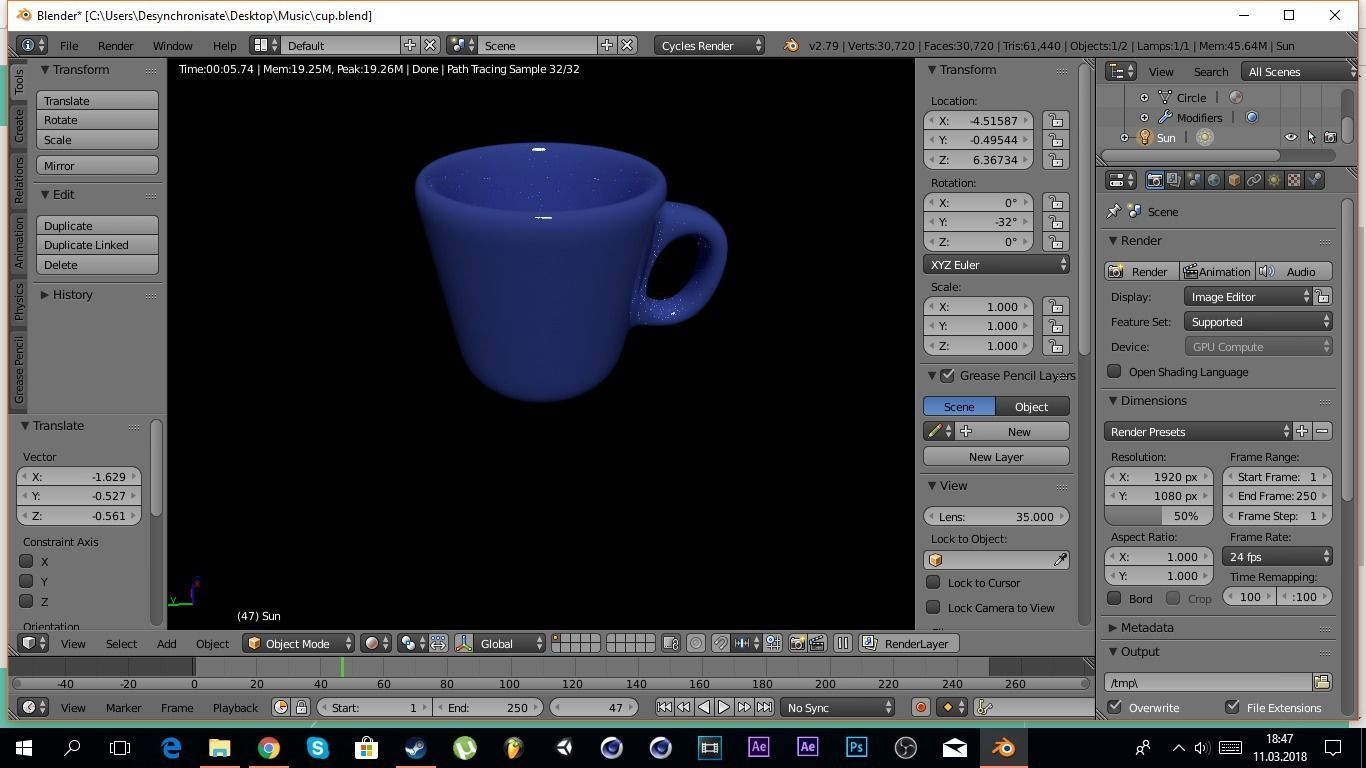 Cup of coffee | 3D model