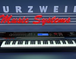 3D model Kurzweil k2500 Synthesizer