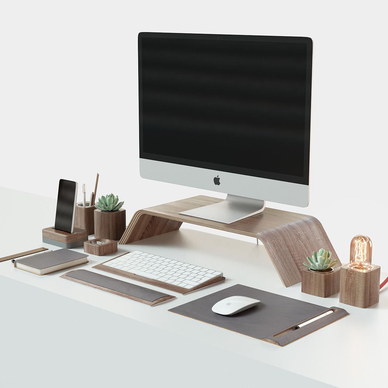iMac and Grovemade desktop