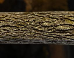 Tiling Tree Bark Textures in 4k 3D model