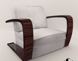 3D model Armchair - Art Deco style - Design from Cygal 1