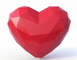 Heart Symbol Low Poly 3D model