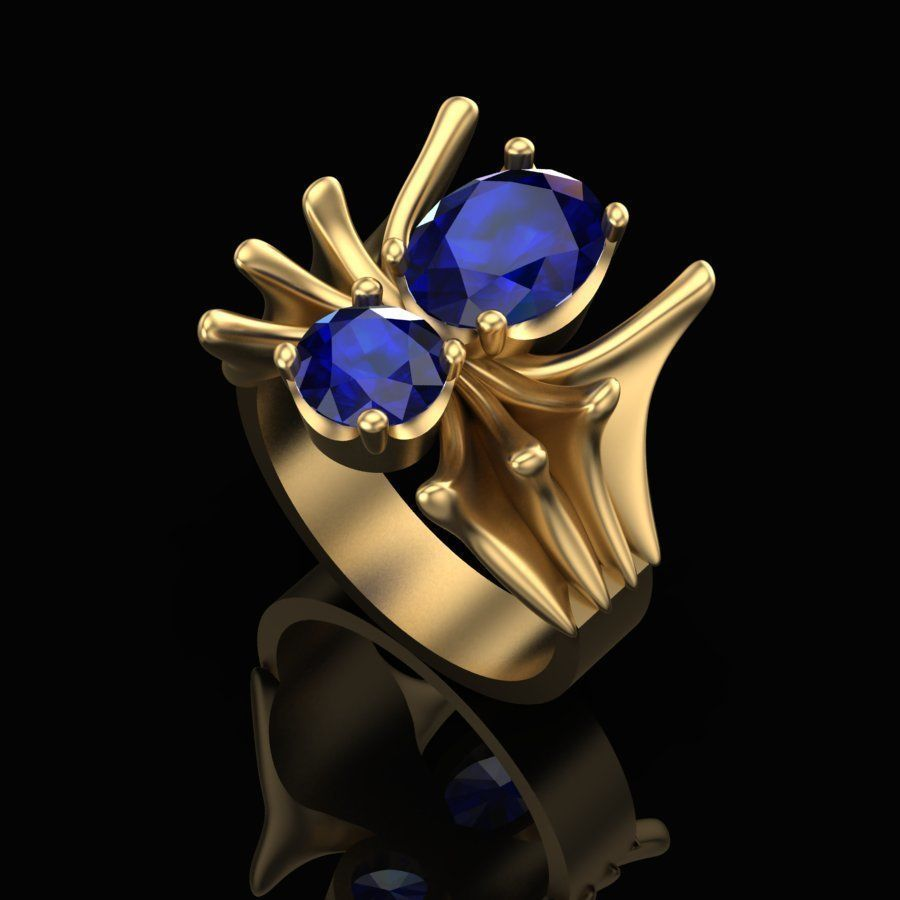 Ring of the Sapphire Spider