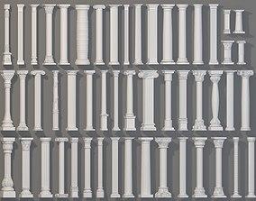 classic Columns Collection -1 - 51 pieces 3D