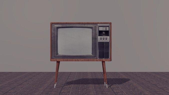 Vintage Tv 3d Model Obj Fbx 1