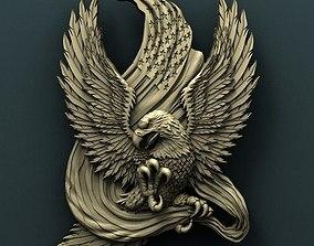 American Eagle 3d stl model for cnc 3D 1
