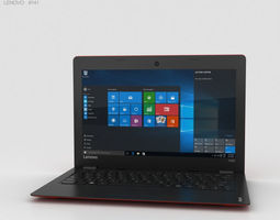 3D notebook Lenovo Ideapad 100S Red
