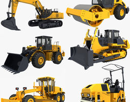 3D Collection Heavy Vehicle Industrial 04