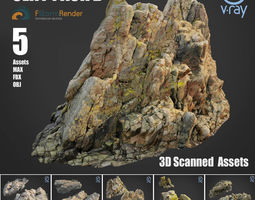 Cliff pack B bundle 3D