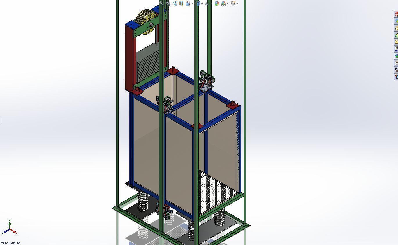 Custom material elevator design free 3d model for 3d decoration models