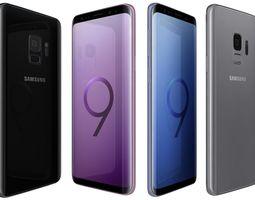 Samsung Galaxy S9 All Colors 3D