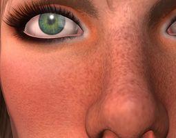 Veronika 3d model animation fbx11 animated