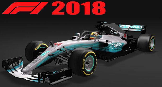 formula 1 mercedes w09 f1 2018 3d model max obj mtl 3ds fbx tga 1