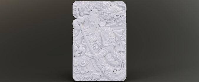 warrior relief 3d model obj mtl stl 1