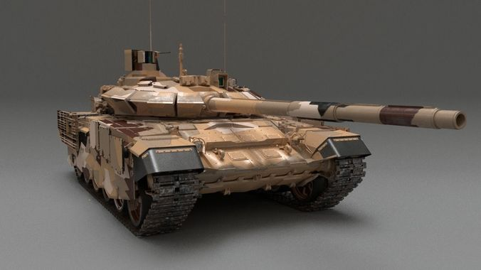 8f513fef08e1 MBT T-90 MS 3D model