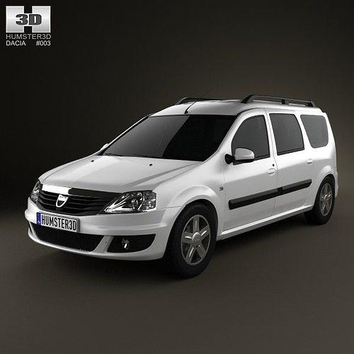 3D Dacia Logan MCV 2011