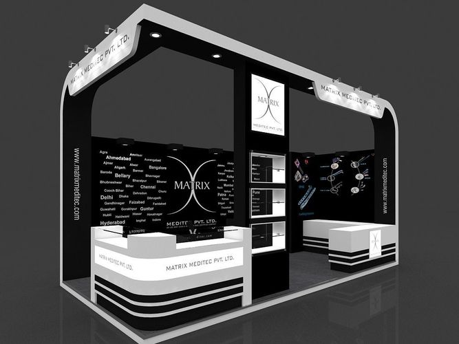 Exhibition Stand Or Booth : Exhibition stand d model mtr sides open