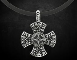 3D printable model Cross with Celtic designs 326