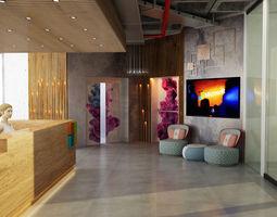 organic office interior 3d model