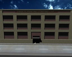 3d model game-ready variety printing company building
