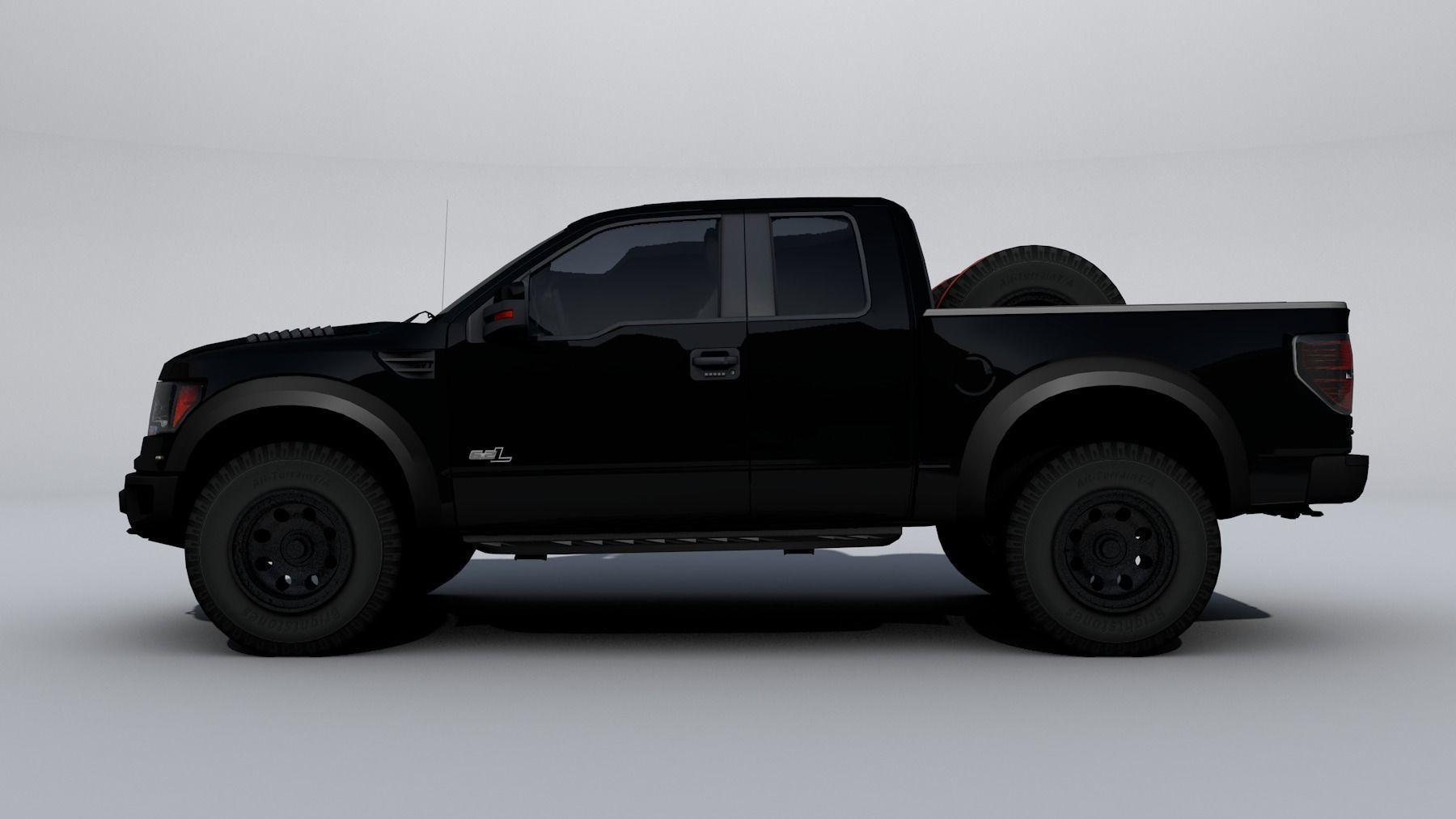 Ford Raptor F  D Model Obj Ds Fbx Cd Stl Wrl Wrz
